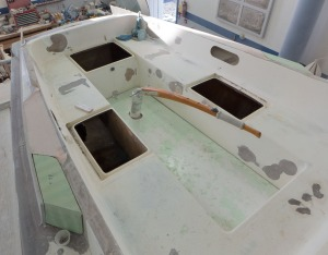 Cockpit. the green stuff is the mold release wax.