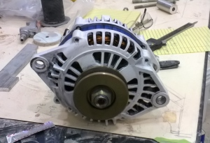 The alternator. It needs some help with its alinment.