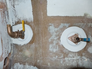 Head sink drain and bilge pump drain.