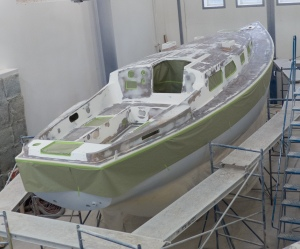 Whole boat, ready for paint.