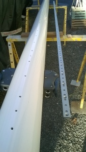 mast and track for the spinnaker pole.