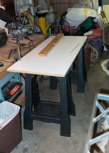 We needed a router table so we made one out of spare parts.